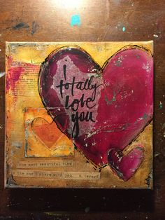 by Betsy Walcheski.  Mixed media-Valentines