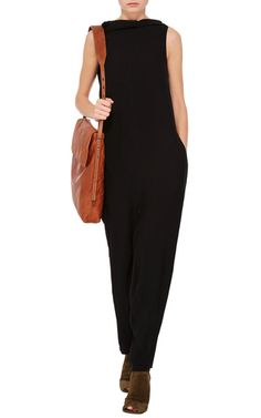 High Neck Jumpsuit by RICK OWENS Now Available on Moda Operandi