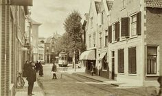 De Zijlweg bij het laatste stukje in 1917 (net voor de gemeentegrens met Bloemendaal)