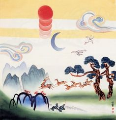 Korean Art, Art Images, Packaging Design, Fine Art, Traditional, My Favorite Things, Gallery, Artist, Pattern