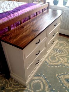 unrecognizable rast // IKEA hack of $35 pine dresser. Maybe something like this for my craft/sewing room