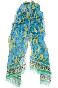Matthew Williamson|Cobra-print jersey and cashmere-blend scarf|NET-A-PORTER.COM