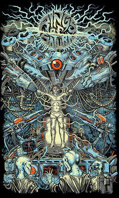 Abducted - Rings of Saturn by Mark Cashmony Metal Band Logos, Metal Bands, Rock N Roll, Thy Art Is Murder, Rings Of Saturn, Metal Shirts, Band Wallpapers, Metal Albums, Metal Artwork