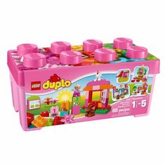 Buy LEGO DUPLO All-in-One-Pink-Box-of-Fun Building Set at Walmart.com