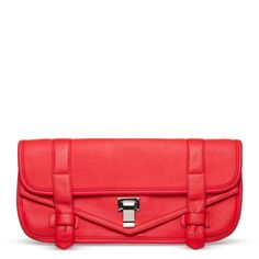 """Cute clutch! Even though this is a bright color (coral) I can see this being styled with many things and adding that """"pop"""" every outfit needs."""