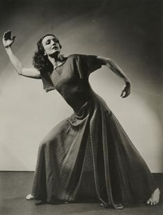 Modern dance - Doris Humphrey, pictured in the process of channeling breath, something at which she excelled.
