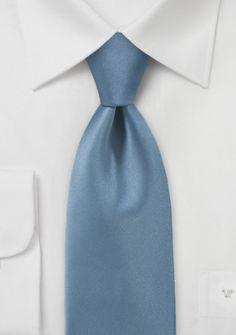 Businesskrawatte monochrom Kunstfaser stahlblau
