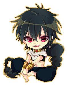 Character: Judar from Manga, Anime: Magi Labyrinth of Magic, Chibi Version