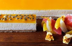 Passionfruit and vanilla cheesecake