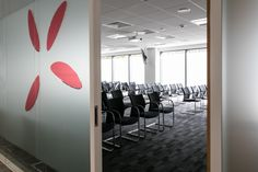 Office interior design case study. VWV Conference room in Bristol. Video conference room. Designed by Interaction, UK.