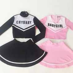 :n me gusta xd Matching Outfits Best Friend, Best Friend Outfits, Twin Outfits, Girl Outfits, Fashion Outfits, Pastel Goth Fashion, Kawaii Fashion, Cheerleading Outfits, School Cheerleading