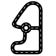 Floorsticker, racerbane m. rundkørsel