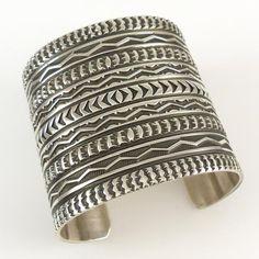 Stamped Silver Cuff