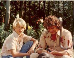 Michael Landon and his son