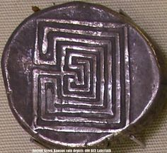 Knossos coin depicting labyrinth