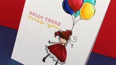 Zig Clean Color Pens on Letterpress Paper- Sandy Allnock