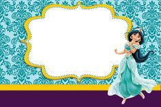 Jasmine and Aladdim - Full Kit with frames for invitations, labels for snacks, souvenirs and pictures! Aladdin Birthday Party, Aladdin Party, Birthday Party Invitations, Disney Jasmine, Aladdin And Jasmine, Jasmin Party, Princess Jasmine Party, Disney Cards, Hello Kitty Wallpaper