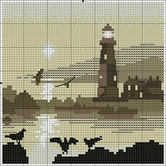 Punto cruz Cross Stitching, Cross Stitch Embroidery, Hand Embroidery, Cross Stitch Patterns, Embroidery Patterns, Cross Stitch Sea, Cross Stitch Bookmarks, Pixel Art, Sheep Tattoo