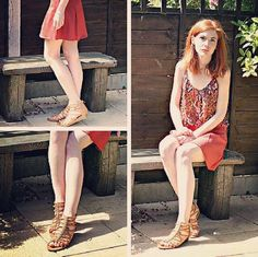 Blogger @daisychaindream (IG) looking fab in a summer inspired outfit featuring our reptile print gladiator sandals