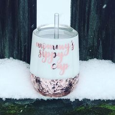 Excited to share the latest addition to my shop: Stainless Steel 12 Oz Chunky Glitter Wine Tumbler Epoxy Sealed / Rose Gold / Double Walled / Mommys Sippy Cup WITH Straw Glitter Wine Glasses, Glitter Cups, Glitter Girl, Glitter Dress, Glitter Shoes, Gold Glitter, Glitter Projects, Glitter Crafts, Sippy Cups