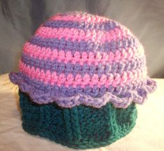 Yummy Cupcake Beanie Pattern  INSTANT DOWNLOAD  Crochet by skylay, $4.00