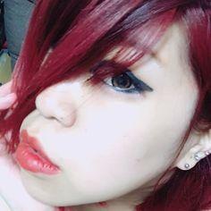WEBSTA @ r_hikotaro - にぱぁー♡#マニパニ#マニックパニック#ヴァンパイアズキッス#個性派#赤リップV系ではないよー!どっちか言うたらB系が好き♡今日も我慢出来た♡したいことが出来て幸せ♡今の自分が好き♡#赤髪来月の#ユニバ 前にももっかい染めよ♡ Spring, Instagram, Fashion, Moda, La Mode, Fasion, Fashion Models, Trendy Fashion