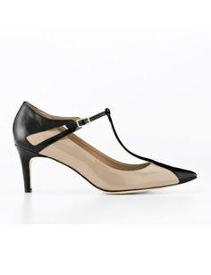b968a20c8aa2 ANN TAYLOR AUBRIE T-STRAP PATENT LEATHER KITTEN HEELS Kitten Heel Shoes