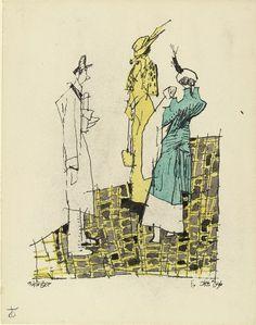 Lyonel Feininger. Figures. 1936
