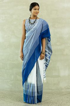 Blue Mosaic Saree from FashionMarket.lk