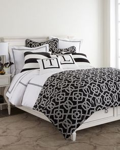 pretty black and white bedding http://rstyle.me/n/smimzr9te