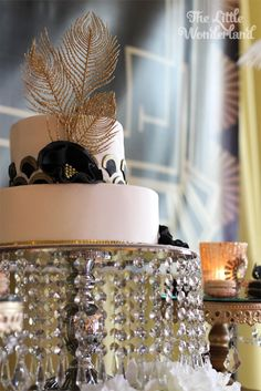 Cake from a Great Gatsby Birthday Party