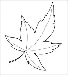 Autumn Leaf Template: Free Printable Maple Fall Autumn Leaf Template PDF and decorate your house, office, classroom, living room Maple Leaf Template, Leaf Template Printable, Printable Leaves, Owl Templates, Heart Template, Butterfly Template, Applique Templates, Flower Template, Applique Patterns