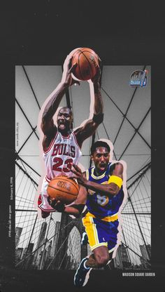 Kobe Bryant and Michael Jordan Deandre Hopkins, Sports Wallpapers, Black Mamba, Nba Players, Los Angeles Lakers, Kobe Bryant, Lebron James, Michael Jordan, Comedians