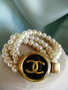 #Chanel #bracelet #pearls