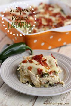 Jalapeno Popper Lasagna on MyRecipeMagic.com