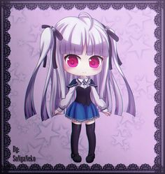 I drew this for a friend birthday~ She is Julie from Absolute Duo Julie Sigtuna Anime Chibi, Anime Art, Absolute Duo, Plastic Memories, One Punch Man, Manga, Anime Shows, Friend Birthday, Sword Art Online