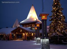 Image: Christmas in Finland - Christmas in Finnish Lapland photo - picture about Santa Claus Village in Rovaniemi - arctic circle - House of Santa Claus Santa Claus Village, Santa's Village, Helsinki, Lappland, Merry Christmas And Happy New Year, Father Christmas, Lapland Finland, Disney Concept Art, Winter Wonderland Christmas