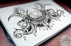 triple moon tattoo design | Yeah! | Pinterest | Moon Tattoos, Moon ...