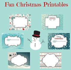 Free Printable Christmas Labels - In The Playroom