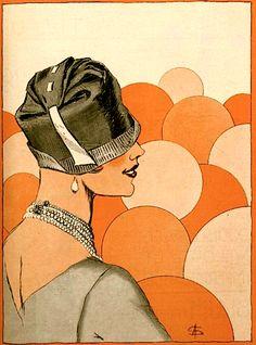 L'Art et la Mode (cover detail) - January 16, 1926 (A. Soulié). Art Deco