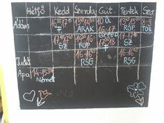 Süti és más...: Heti tervező DIY Periodic Table, Diagram, Diy, Periodic Table Chart, Bricolage, Periotic Table, Do It Yourself, Homemade, Diys