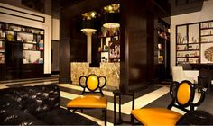 The lobby inside #TheCromwell #LasVegas is a mix b/w Sherlock Holmes' library and a super swanky Vegas bar. Just steps away you can hit up Bound bar, which serves an awesome espresso cocktail.