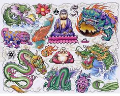 Tattoo 321 Back Chinese Dragon Lower Loaders Designs