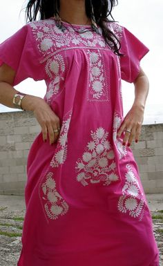 love hand-embroidered Mexican dresses.