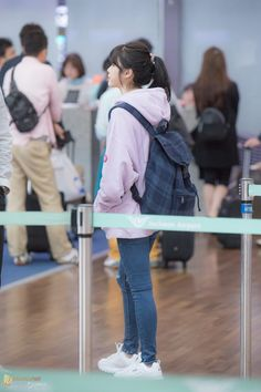 171007 IU at Incheon Airport departing for Taiwan by 미스터신 Casual Work Outfits, Work Casual, Classy Outfits, Cute Outfits, Stylish Outfits, Iu Fashion, Fashion Line, Korean Fashion, Airport Fashion