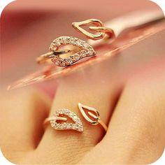 Nuovo Modo di Arrivo 1 pz Due Foglie Imitazione Paio di Diamante Anelli Coreano Femminile Moda Vintage Gioielli Anelli spedizione gratuita