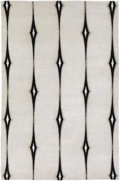 Candice Olson Design Luminous Hand Knotted Viscose Accents Wool Rugs -Beige