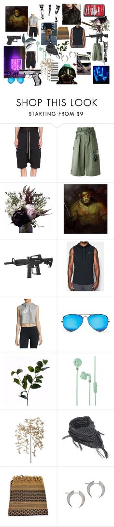 """""""Blacklight"""" by srrl ❤ liked on Polyvore featuring Rick Owens, Marc Jacobs, Abigail Ahern, Spyder, adidas, Ray-Ban, Wyld Home, Urbanears, Frontgate and CFconcept"""