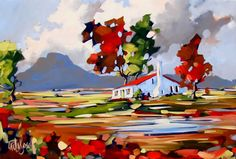 Artwork of Carla Bosch exhibited at Robertson Art Gallery. Original art of more than 60 top South African Artists - Since Great Paintings, Colorful Paintings, Landscape Art, Landscape Paintings, South African Artists, Boat Painting, Bosch, Whimsical Art, Canvas Artwork