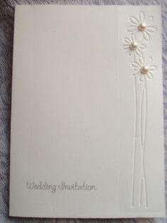 LK's Invitations and Wedding Stationary 00971 50 466 8096: Elegant Unusual Embossed Daisy Wedding invitation